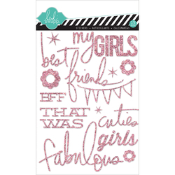 Hello Today Collection Memory Planner Glitter Stickers Pink