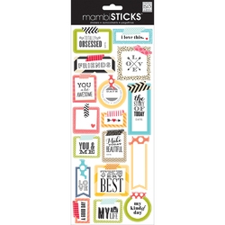 Me And My Big ideas MAMBI Sticks Chipboard Stickers Washi Tape Shapes