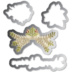 Sizzix Framelits Die And Embossing Folder Christmas Ornament Set