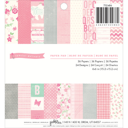 36 Sheet Special Delivery Girl Paper Pad 6X6