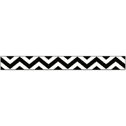 Glitter Ribbon Black Chevron 0.325 Ch 3 Yards