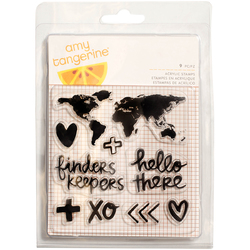 Finders Keepers Collection Clear Acrylic Stamps Map