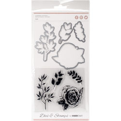 Decorative Dies And Clear Acrylic Stamps Rose