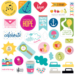 Illustrated Faith Die Cut Cardstock Pieces Encouragement