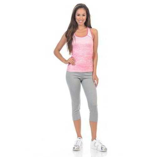 Diamante Women's Power Flex Yoga Pant Legging Sportswear - Style C010A