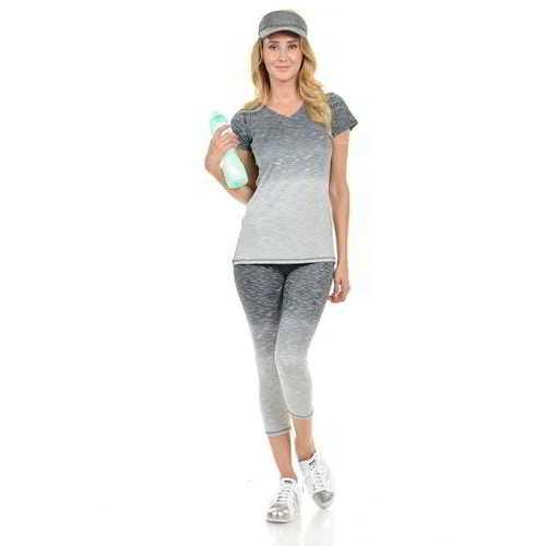 Diamante Women's Power Flex Yoga Pant Legging Sportswear - Style C004A