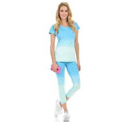 Diamante Women's Power Flex Yoga Pant Legging Sportswear - Style C004B