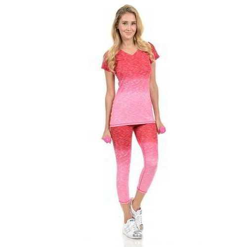 Diamante Women's Power Flex Yoga Pant Legging Sportswear - Style C004D
