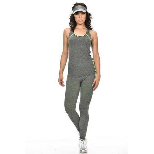 Diamante Women's Power Flex Yoga Pant Legging Sportswear - Style C166
