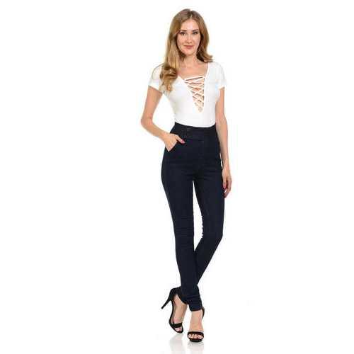 Diamante Women's Jeans - Push Up - Skinny - Style 7318HW