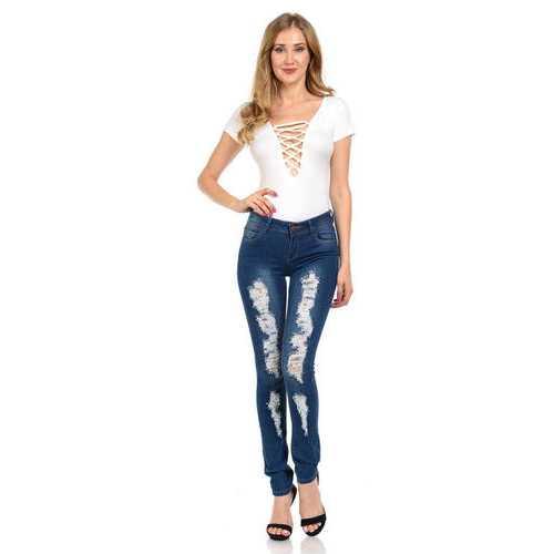 Diamante Women's Jeans - Push Up - Skinny - Style N1113-R