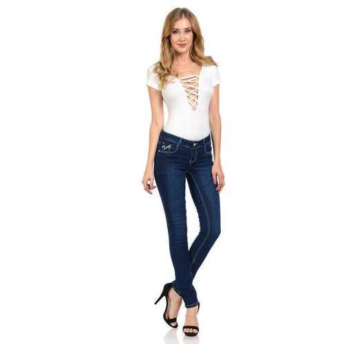 Diamante Women's Jeans - Push Up - Skinny - Style WG0005