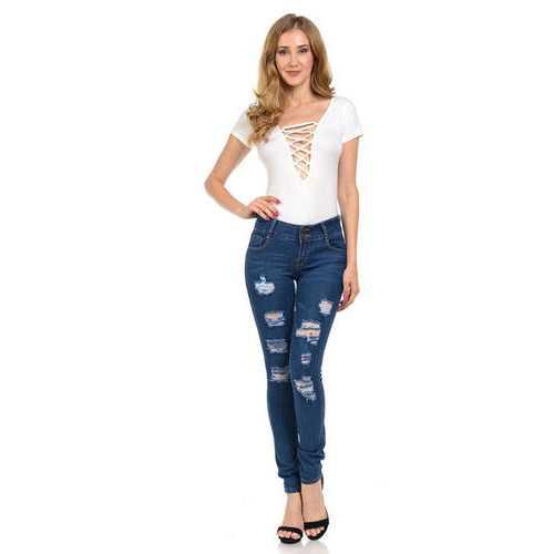 Diamante Women's Jeans - Push Up - Skinny - Style WG450-R