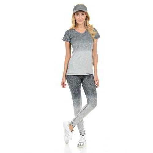 Diamante Women's Power Flex Yoga Pant Legging Sportswear - Style C008A