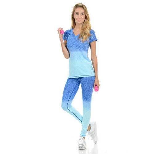 Diamante Women's Power Flex Yoga Pant Legging Sportswear - Style C008B