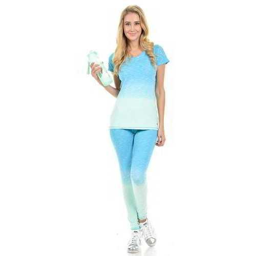 Diamante Women's Power Flex Yoga Pant Legging Sportswear - Style C008C