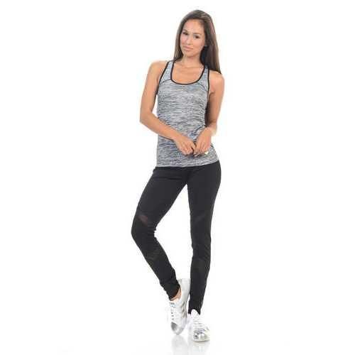 Diamante Women's Power Flex Yoga Pant Legging Sportswear - Style C013B