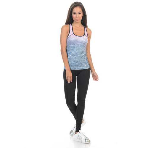 Diamante Women's Power Flex Yoga Pant Legging Sportswear - Style B02B