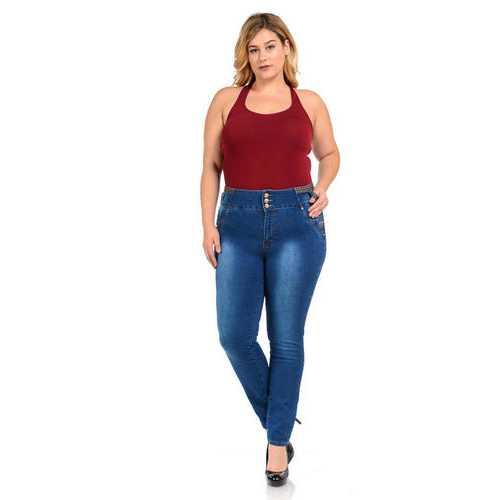 M.Michel Women's Jeans - Plus Size - High Waist - Push Up - Skinny - Style D649