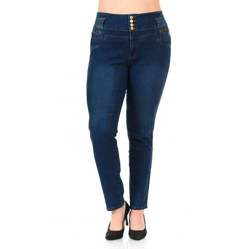 Pasion Women's Jeans - Plus Size - High Waist - Push Up - Skinny - Style N343