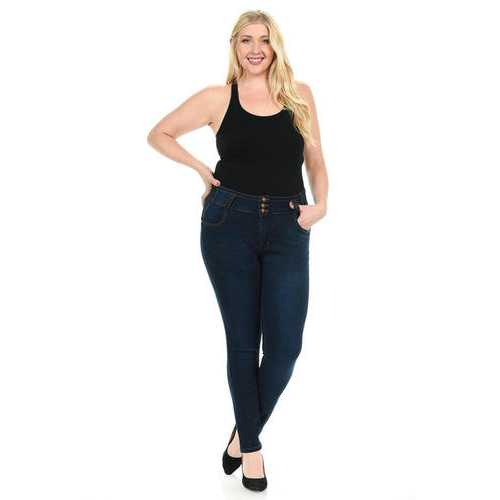 Pasion Women's Jeans - Plus Size - High Waist - Push Up - Skinny - Style N364