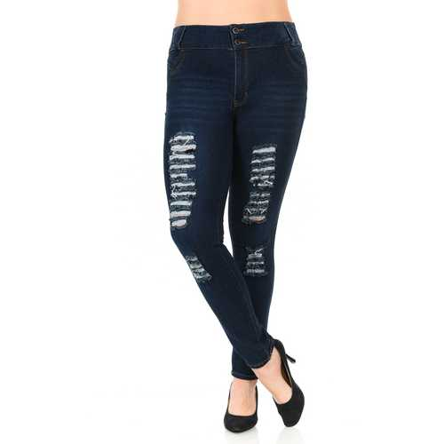 Pasion Women's Jeans - Plus Size - High Waist - Push Up - Skinny - Style N402B-R