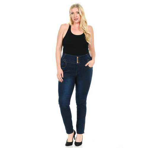 Pasion Women's Jeans - Plus Size - High Waist - Push Up - Skinny - Style N468X