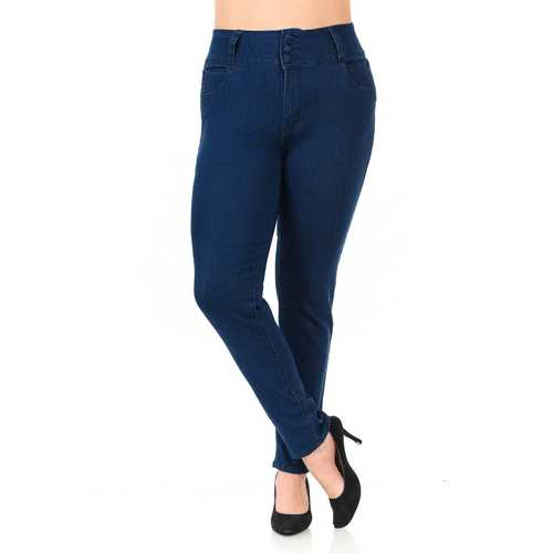 Pasion Women's Jeans - Plus Size - High Waist - Push Up - Skinny - Style N542