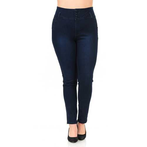 Pasion Women's Jeans - Plus Size - High Waist - Push Up - Skinny - Style N546B