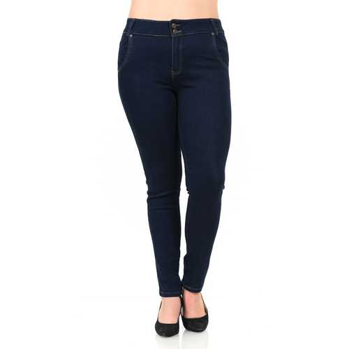 Pasion Women's Jeans - Plus Size - High Waist - Push Up - Skinny - Style N585H-R