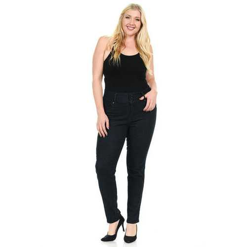 Pasion Women's Jeans - Plus Size - High Waist - Push Up - Skinny - Style N608