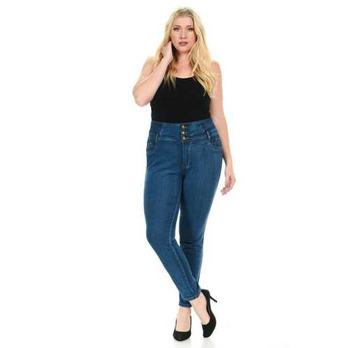 Pasion Women's Jeans - Plus Size - High Waist - Push Up - Skinny - Style N616