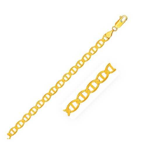 5.5mm 14k Yellow Gold Mariner Link Bracelet, size 7''