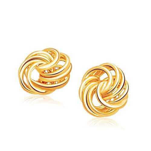 Rosetta Petite Love Knot Stud Earrings in 14k Yellow Gold