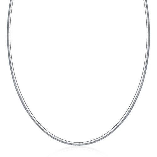 Sterling Silver Classic Omega Chain Necklace (3.0mm), size 16''
