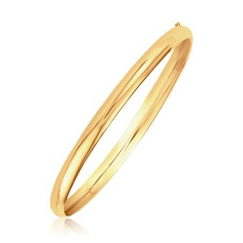 Classic Bangle in 14k Yellow Gold (5.0mm), size 8''