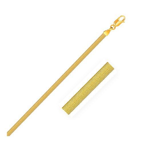 3.0mm 14k Yellow Gold Super Flex Herringbone Bracelet, size 7''
