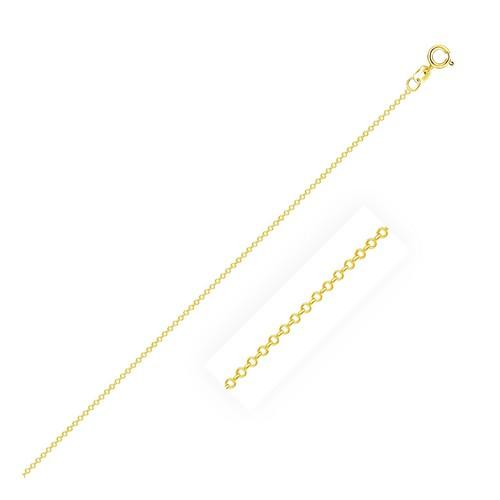 0.5mm 14K Yellow Gold Cable Link Chain