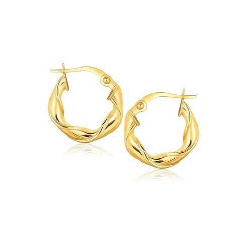14k Yellow Gold Hoop Earrings (5/8 inch)