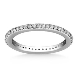 Category: Dropship Jewelry, SKU #35445-8, Title: 14k White Gold Round Diamond Eternity Ring, size 8