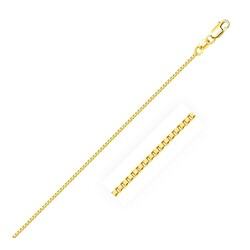1.0mm 14K Yellow Gold Classic Box Chain