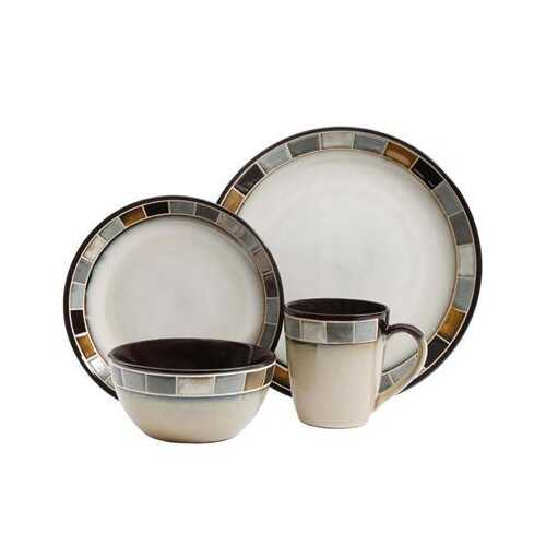 Gris 16pc Dinnerware Set