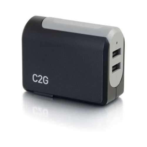 2 Port USB Wall Chgr AC USB