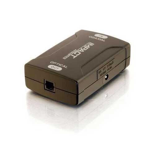 Coax To Toslink Audio Convertr