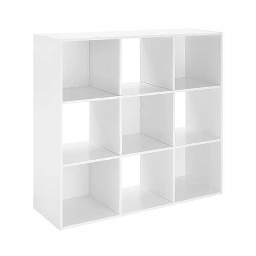 9 Section Cube Organizer White