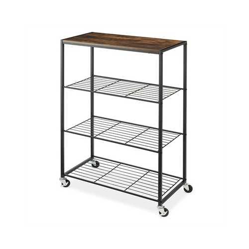 Rolling 4 Tier Storage Shelves