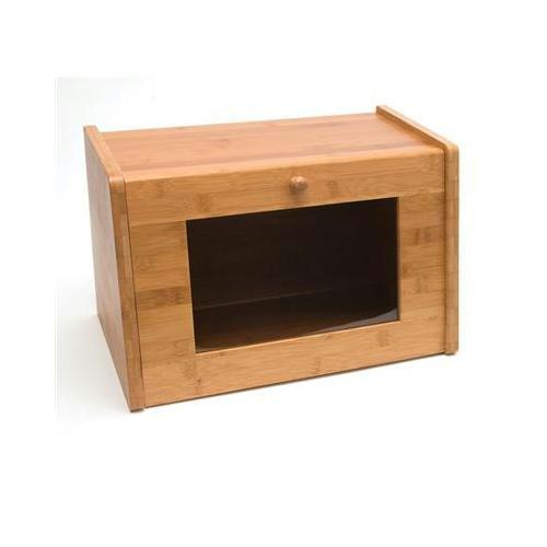 Bamboo Bread Box With Window