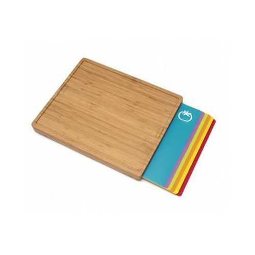Bamboo Cutting Board With 6 Mats