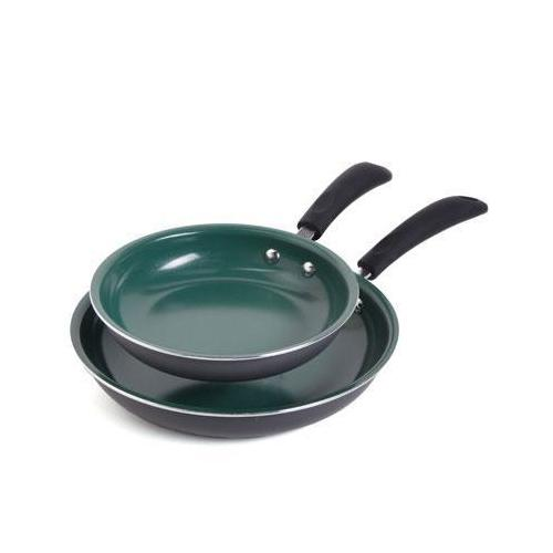 Gh 2pc Fry Pan Set Green Ceram