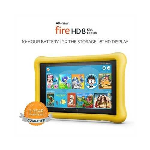 "8"" Firehd Kids Ed 32gb Yellow"